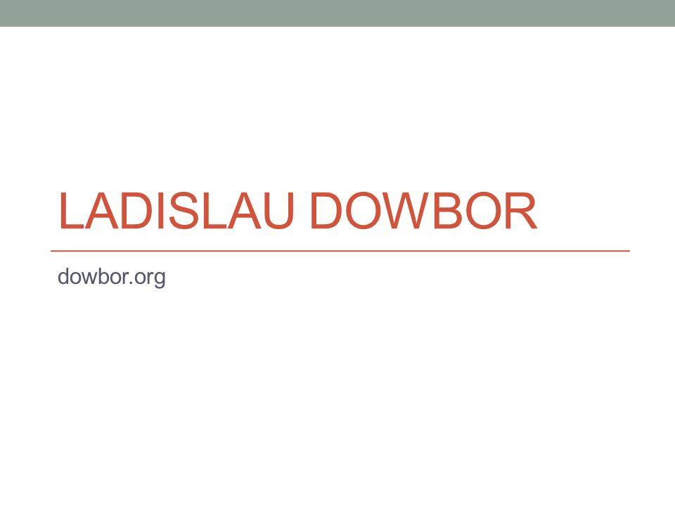 LADISLAU DOWBOR dowbor.org