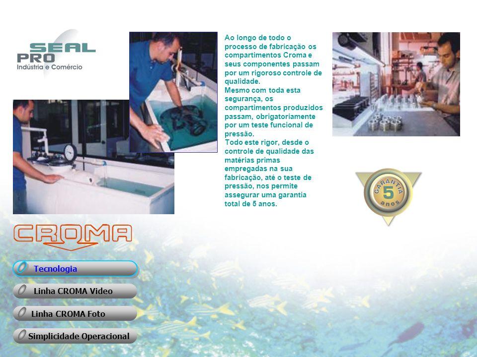 Ao longo de todo o processo de fabricação os compartimentos Croma e seus componentes passam por um rigoroso controle de qualidade.
