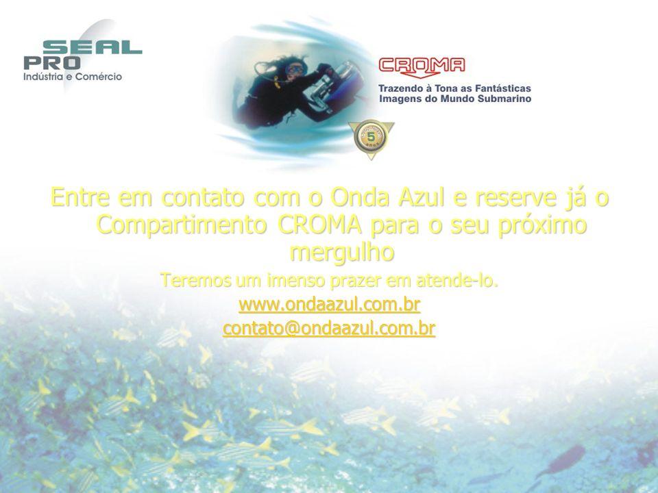 Entre em contato com o Onda Azul e reserve já o Compartimento CROMA para o seu próximo mergulho Teremos um imenso prazer em atende-lo.