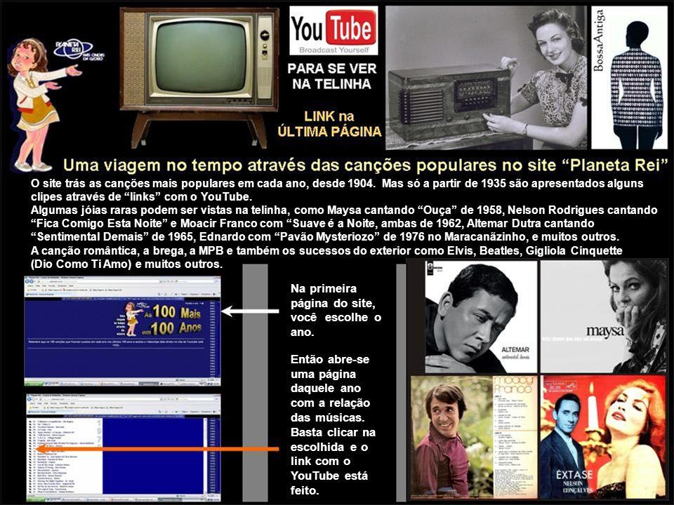 O site trás as canções mais populares em cada ano, desde 1904. Mas só a partir de 1935 são apresentados alguns clipes através de links com o YouTube.