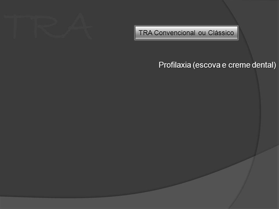 TRA Profilaxia (escova e creme dental) TRA Convencional ou Clássico