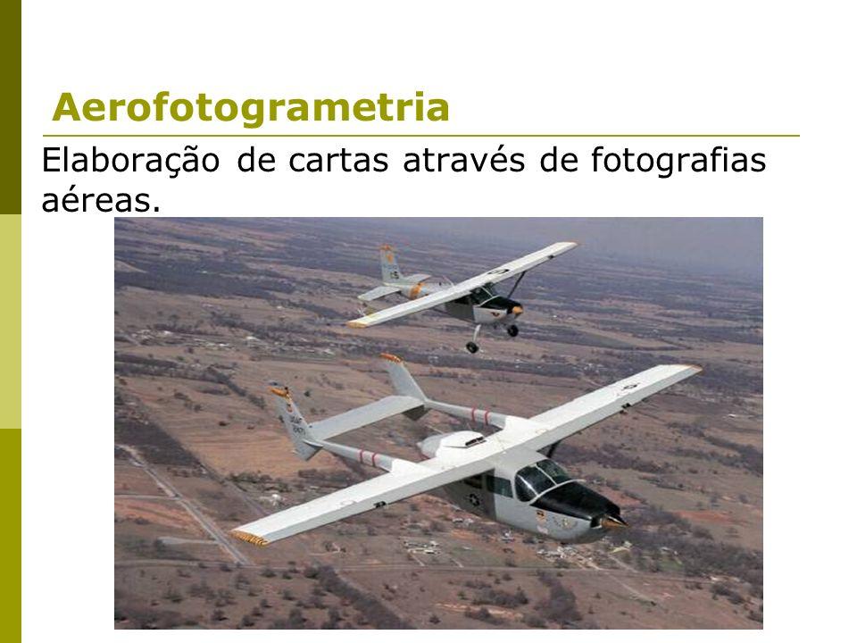 Aerofotogrametria Elaboração de cartas através de fotografias aéreas.