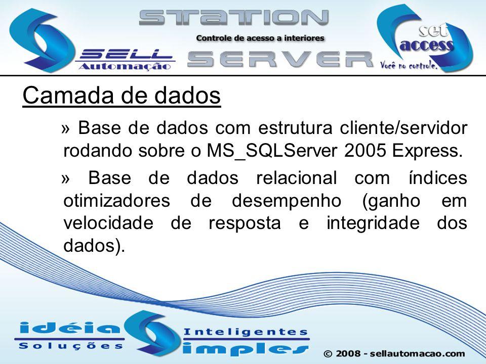 Camada de dados » Base de dados com estrutura cliente/servidor rodando sobre o MS_SQLServer 2005 Express. » Base de dados relacional com índices otimi