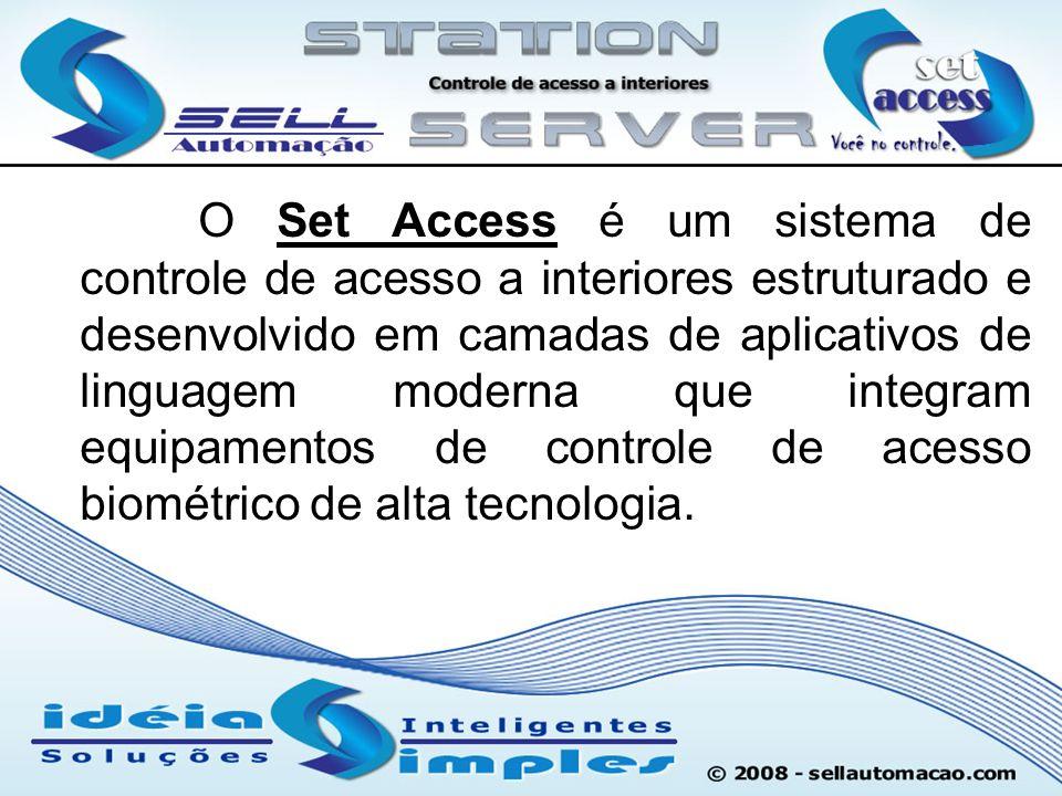 O Set Access é um sistema de controle de acesso a interiores estruturado e desenvolvido em camadas de aplicativos de linguagem moderna que integram eq