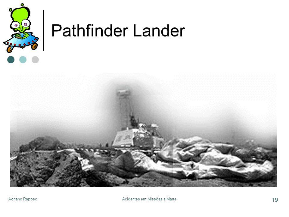 Adriano RaposoAcidentes em Missões a Marte 19 Pathfinder Lander