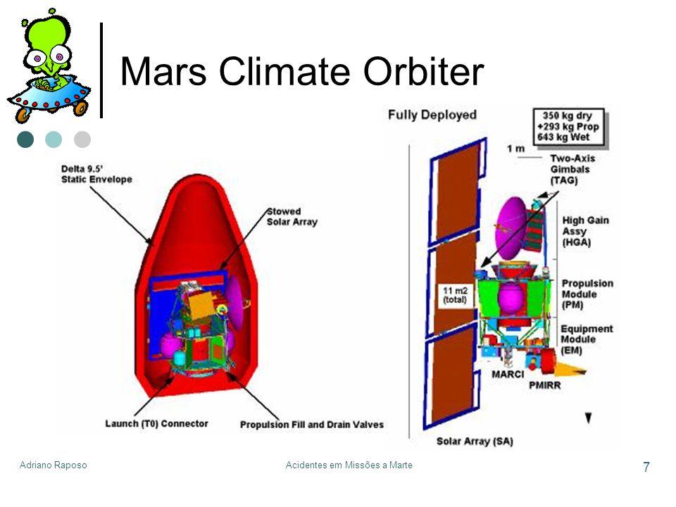 Adriano RaposoAcidentes em Missões a Marte 7 Mars Climate Orbiter