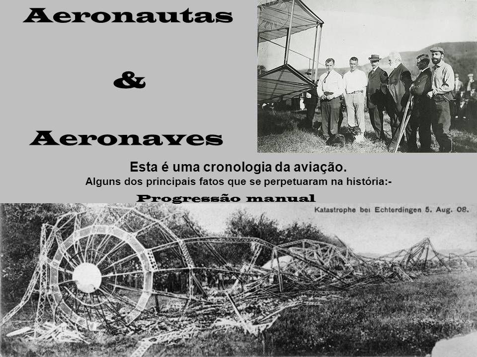 Aeronautas & Aeronaves Esta é uma cronologia da aviação.