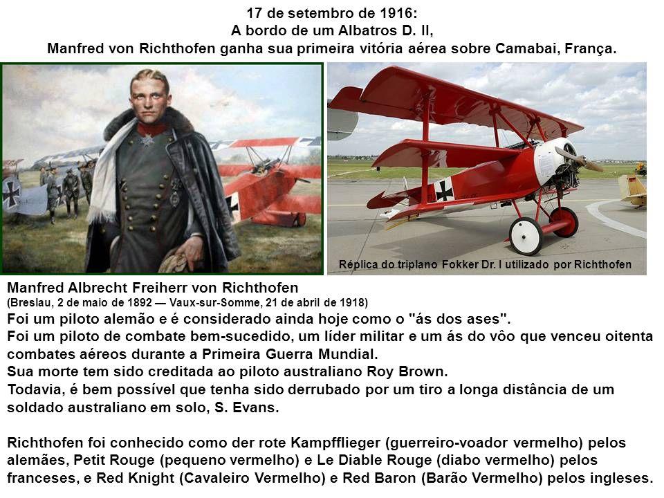 17 de setembro de 1908: O militar estadunidense Thomas Etholen Selfridge torna-se a primeira pessoa a morrer na queda de um aeroplano motorizado, um biplano Wright.