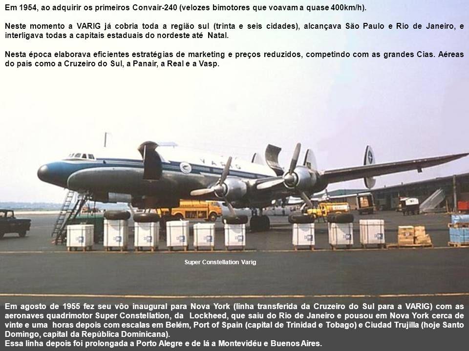 Os americanos vendem seus estoques de DC-3 e C-46 em Natal, logo após a guerra sendo comprados por várias empresas aéreas, inclusive a VARIG, com preços reduzidos a um terço do valor.