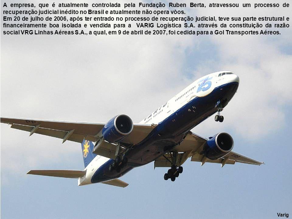 Varig – 767 - 500 anos Brasil Em 1986 adquire os modernos Boeing 767-300ER.