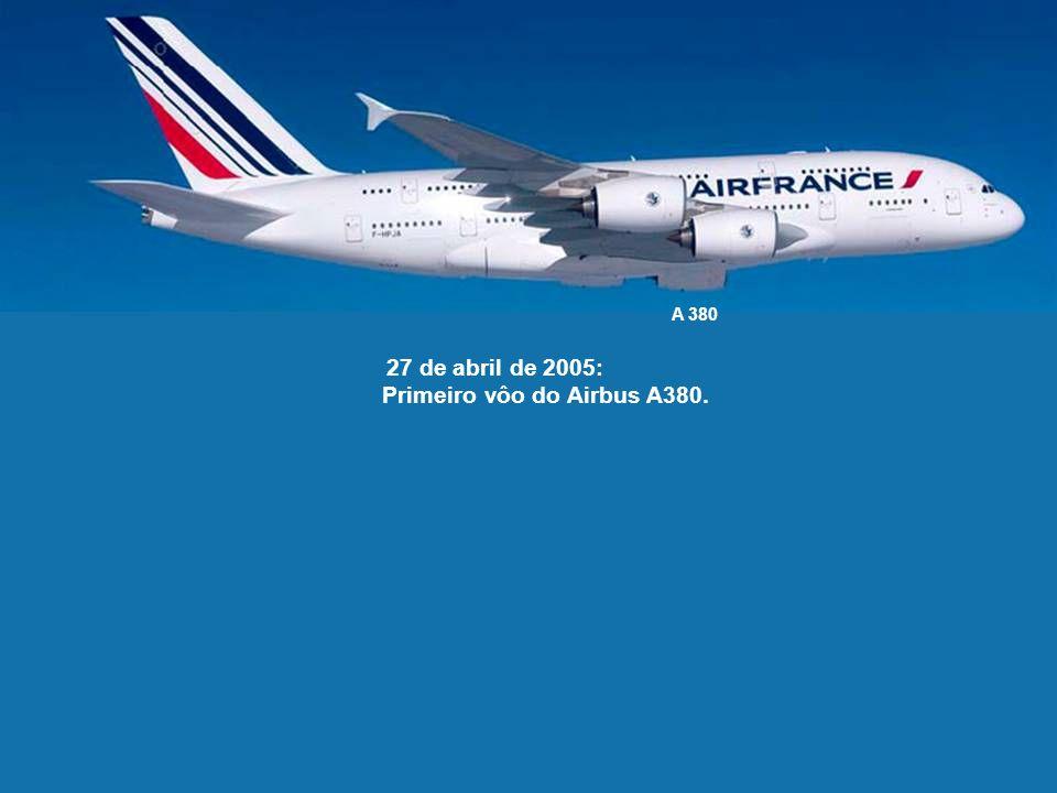 10 de abril de 2003: O fim dos vôos comerciais do Concorde é anunciado pelas Air France e British Airways.