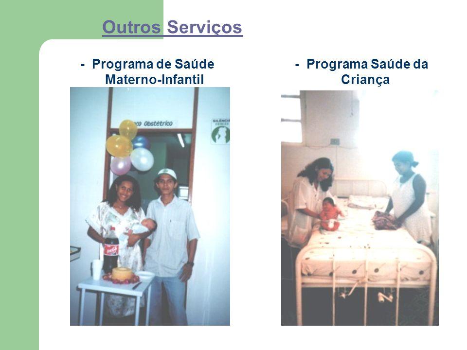 Outros Serviços - Programa de Saúde Materno-Infantil - Programa Saúde da Criança