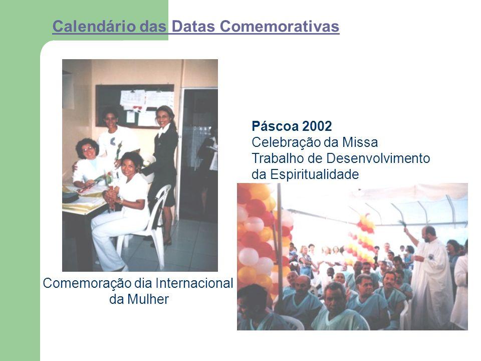 Calendário das Datas Comemorativas Comemoração dia Internacional da Mulher Páscoa 2002 Celebração da Missa Trabalho de Desenvolvimento da Espiritualidade