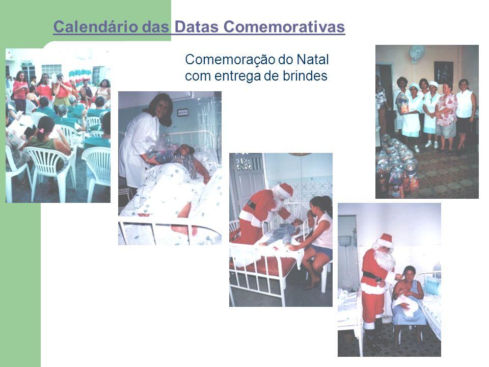 Calendário das Datas Comemorativas Comemoração do Natal com entrega de brindes