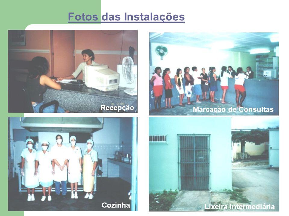 Fotos das Instalações Enfermaria Farmácia Lactário Lixeira