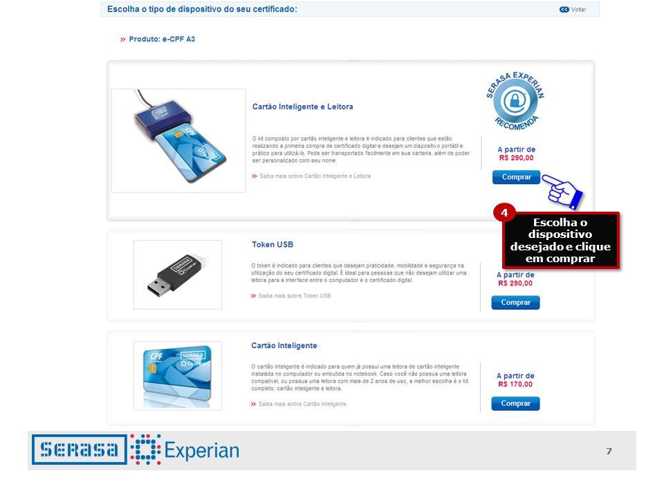 18 Clique no botão confirmar pagamento e anote o número do seu pedido que surgirá na próxima tela.