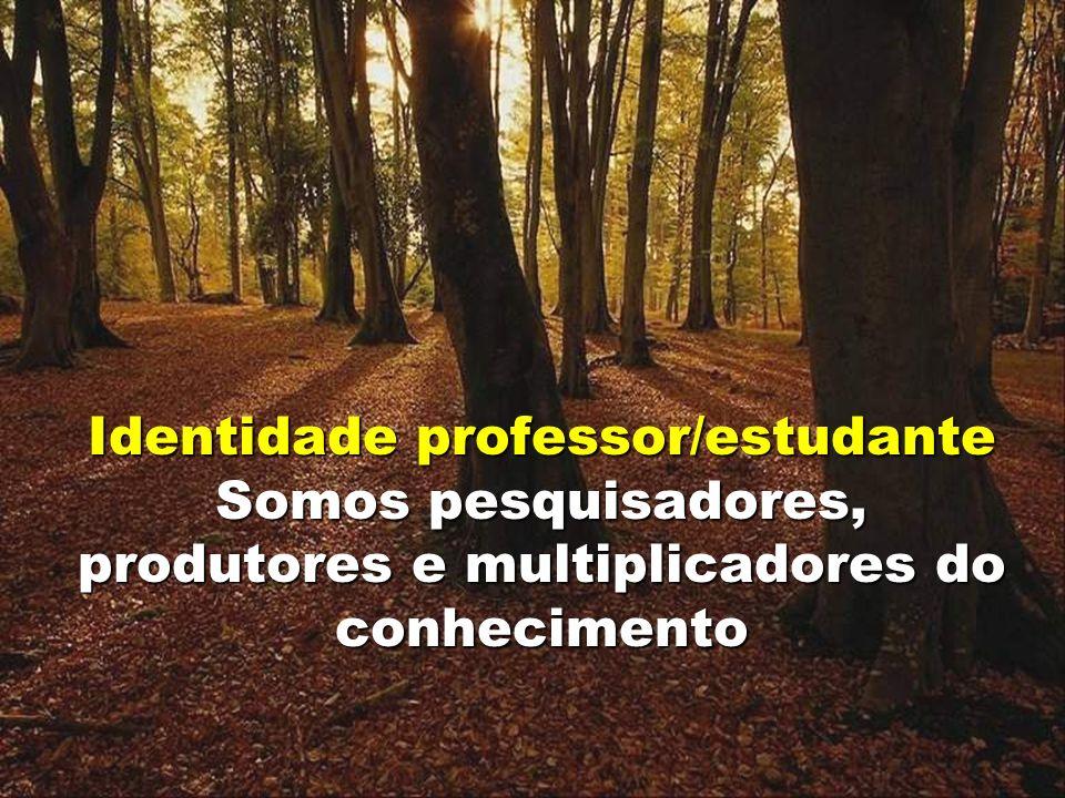 17 Identidade professor/estudante Somos pesquisadores, produtores e multiplicadores do conhecimento