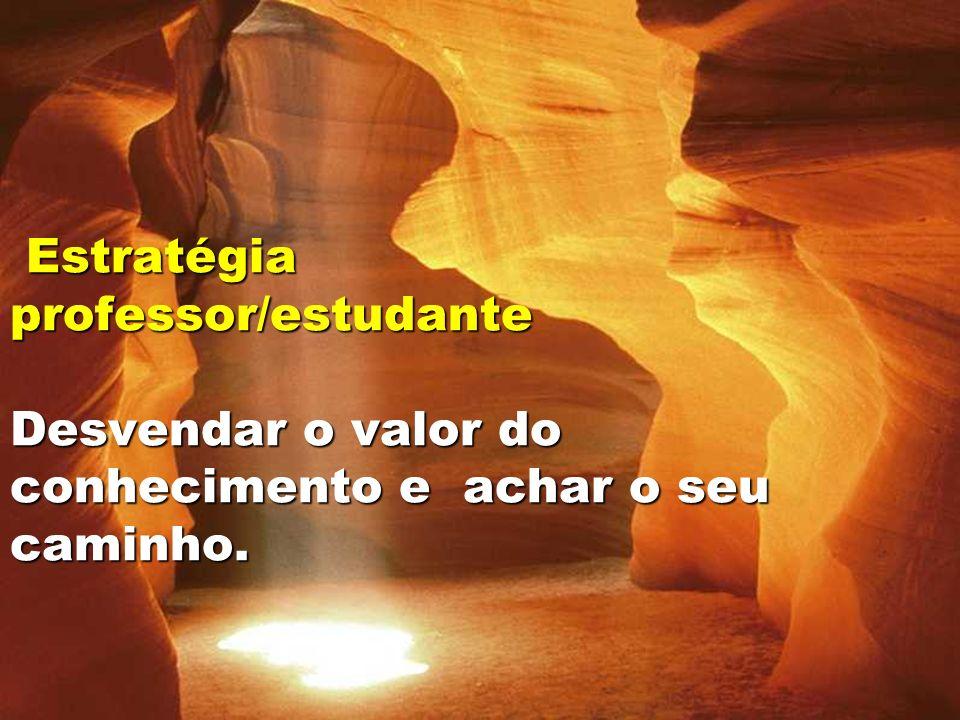 19 Estratégia professor/estudante Desvendar o valor do conhecimento e achar o seu caminho. Estratégia professor/estudante Desvendar o valor do conheci