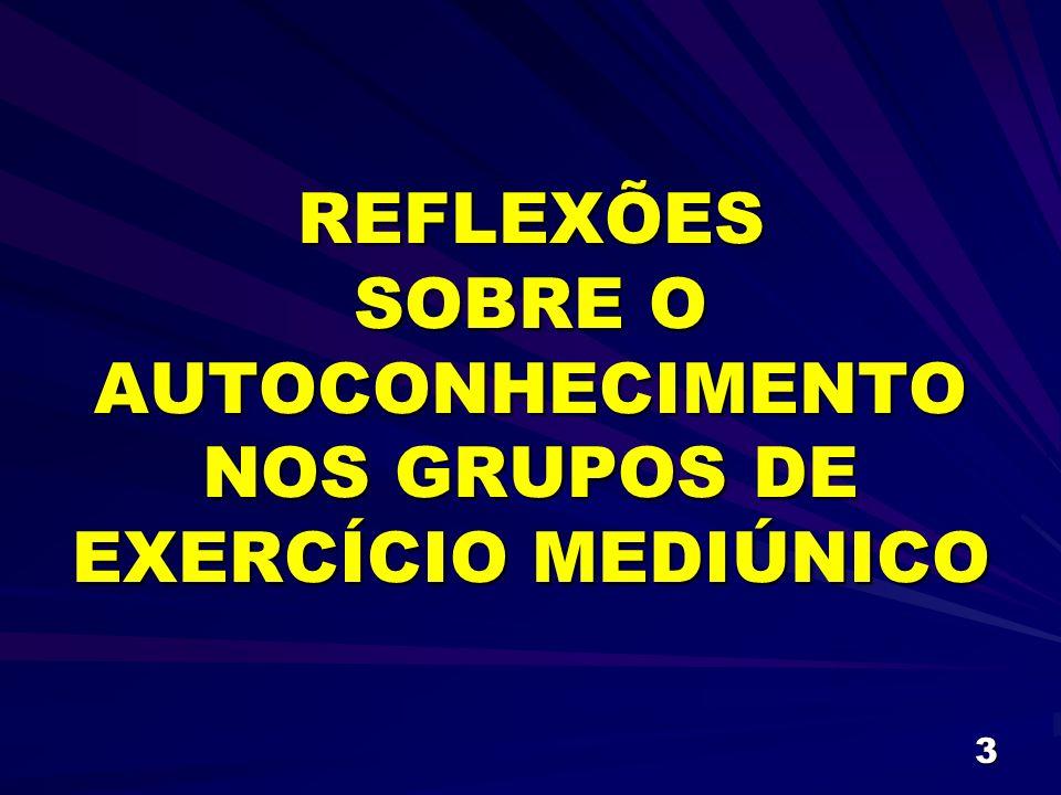 3 REFLEXÕES SOBRE O AUTOCONHECIMENTO NOS GRUPOS DE EXERCÍCIO MEDIÚNICO