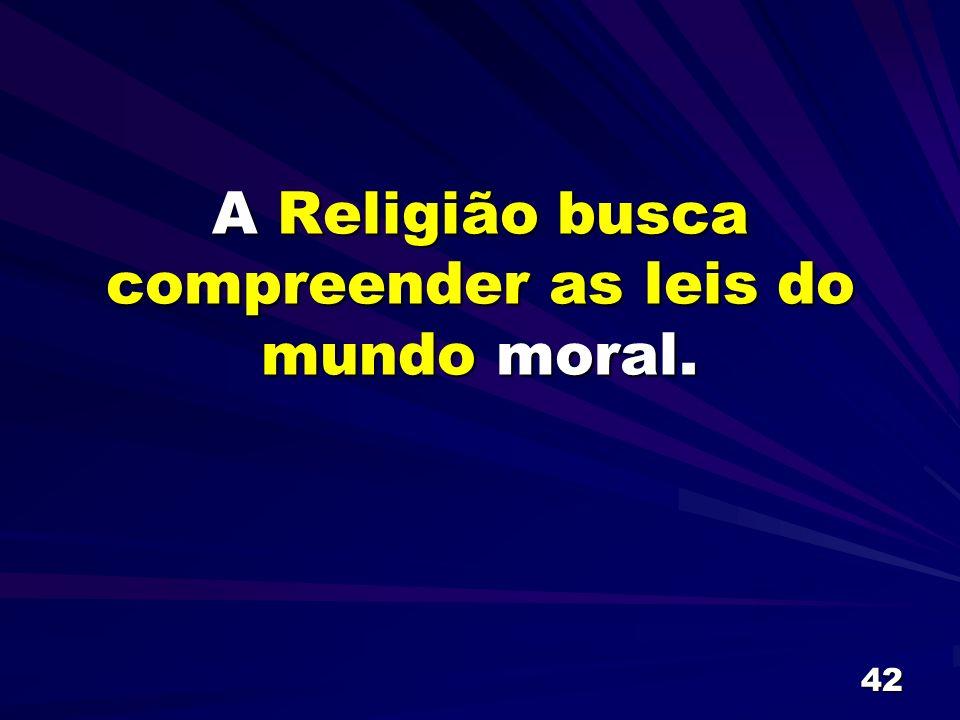 42 A Religião busca compreender as leis do mundo moral.