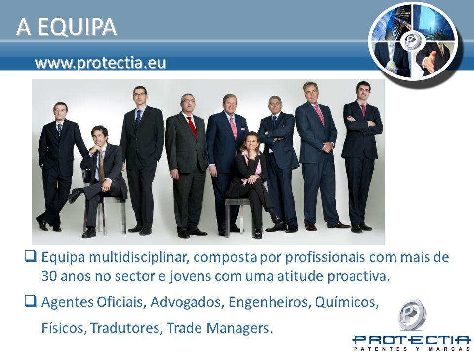 www.protectia.eu A EQUIPA Equipa multidisciplinar, composta por profissionais com mais de 30 anos no sector e jovens com uma atitude proactiva.