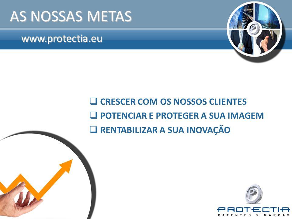 www.protectia.eu AS NOSSAS METAS CRESCER COM OS NOSSOS CLIENTES POTENCIAR E PROTEGER A SUA IMAGEM RENTABILIZAR A SUA INOVAÇÃO