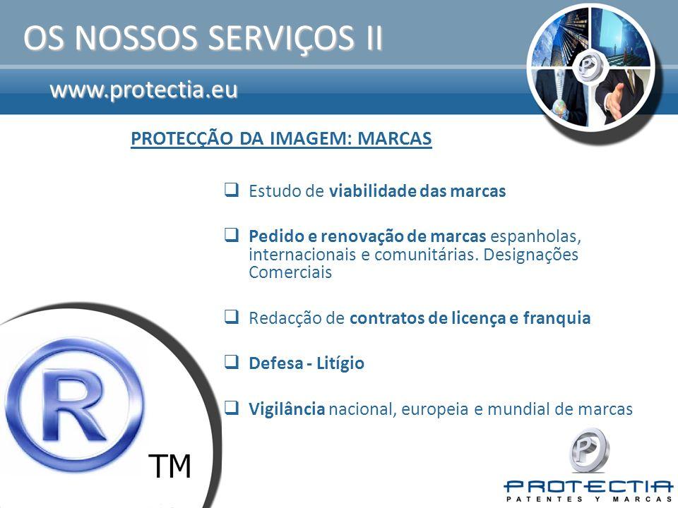 www.protectia.eu OS NOSSOS SERVIÇOS III Registo e renovação de domínios: Com,.Net,.Org,.Info,.Biz,.Ws,.Eu,.Mobi,.Be,.Es,.Com.Es,.Nom.Es,.Org.Es,.Cat,.Tv,.Cc,.Tel.