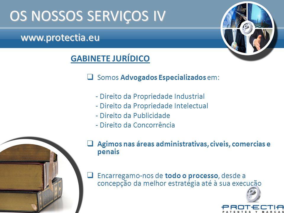www.protectia.eu OS VALORES WIN-WIN Serviço integral de PI de alta qualidade.