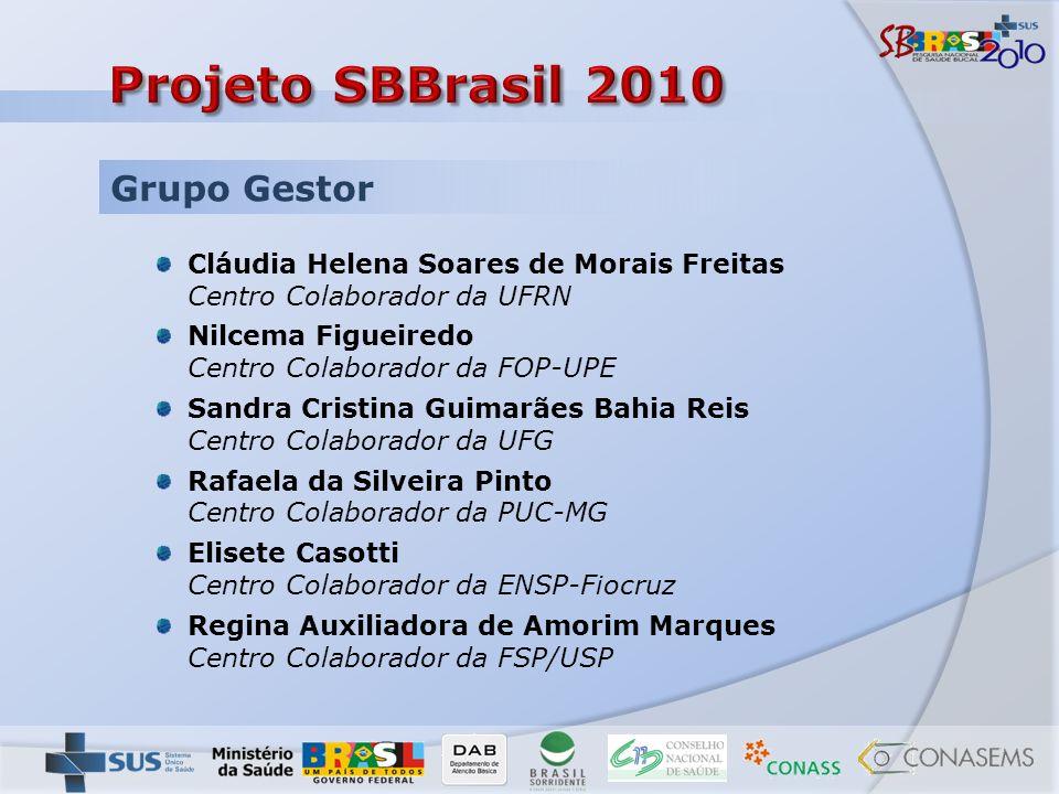 Grupo Gestor Cláudia Helena Soares de Morais Freitas Centro Colaborador da UFRN Nilcema Figueiredo Centro Colaborador da FOP-UPE Sandra Cristina Guima