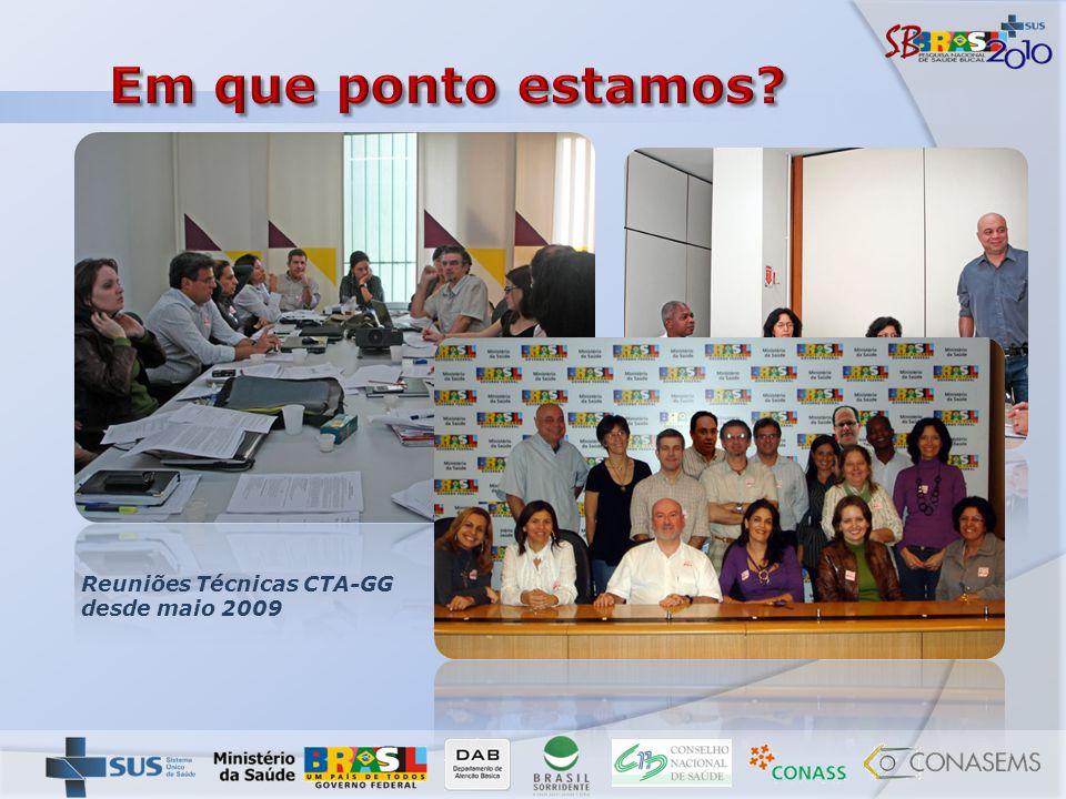 Reuniões Técnicas CTA-GG desde maio 2009