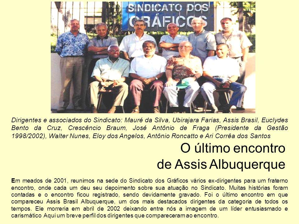 Dirigentes e associados do Sindicato: Mauré da Silva, Ubirajara Farias, Assis Brasil, Euclydes Bento da Cruz, Crescêncio Braum, José Antônio de Fraga