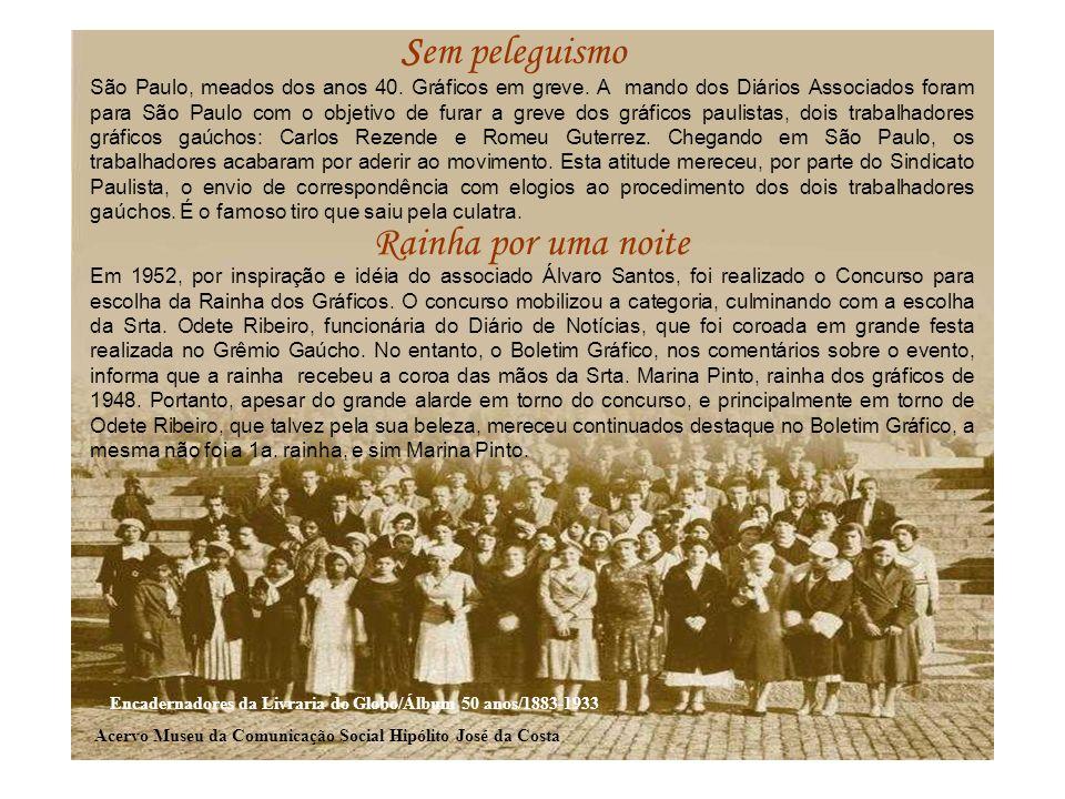 Em 1952, por inspiração e idéia do associado Álvaro Santos, foi realizado o Concurso para escolha da Rainha dos Gráficos. O concurso mobilizou a categ