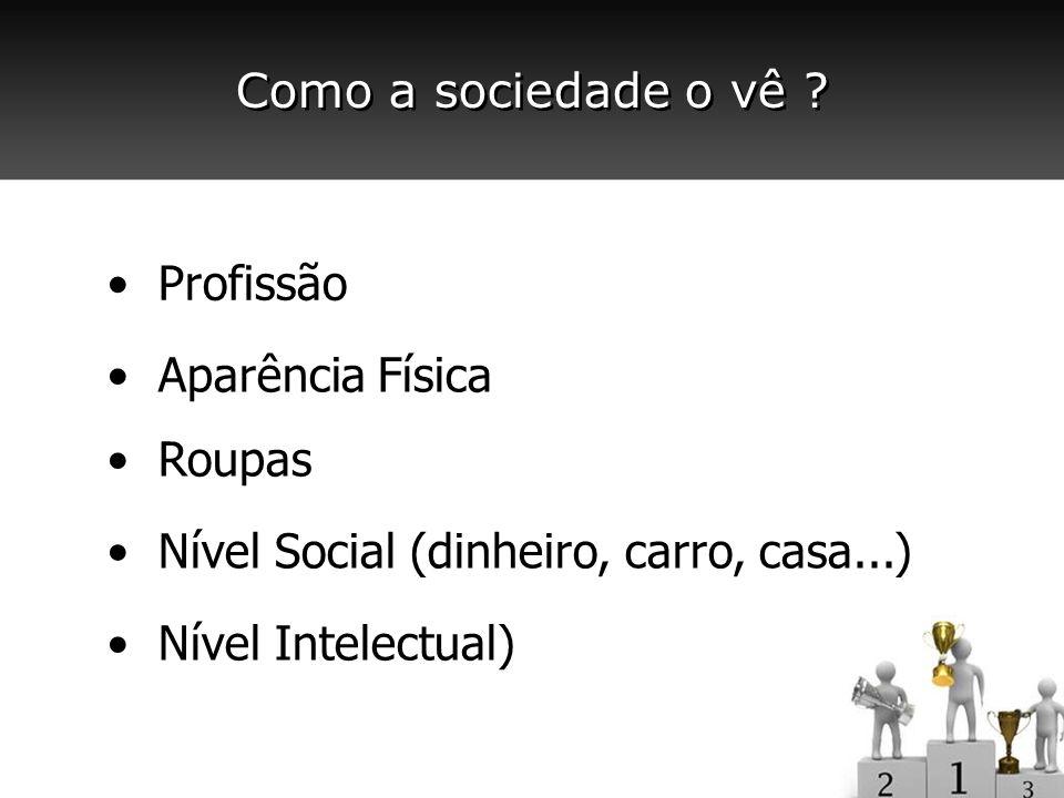 Profissão Aparência Física Roupas Nível Social (dinheiro, carro, casa...) Nível Intelectual)