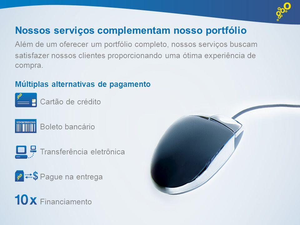 Nossos serviços complementam nosso portfólio Além de um oferecer um portfólio completo, nossos serviços buscam satisfazer nossos clientes proporcionan