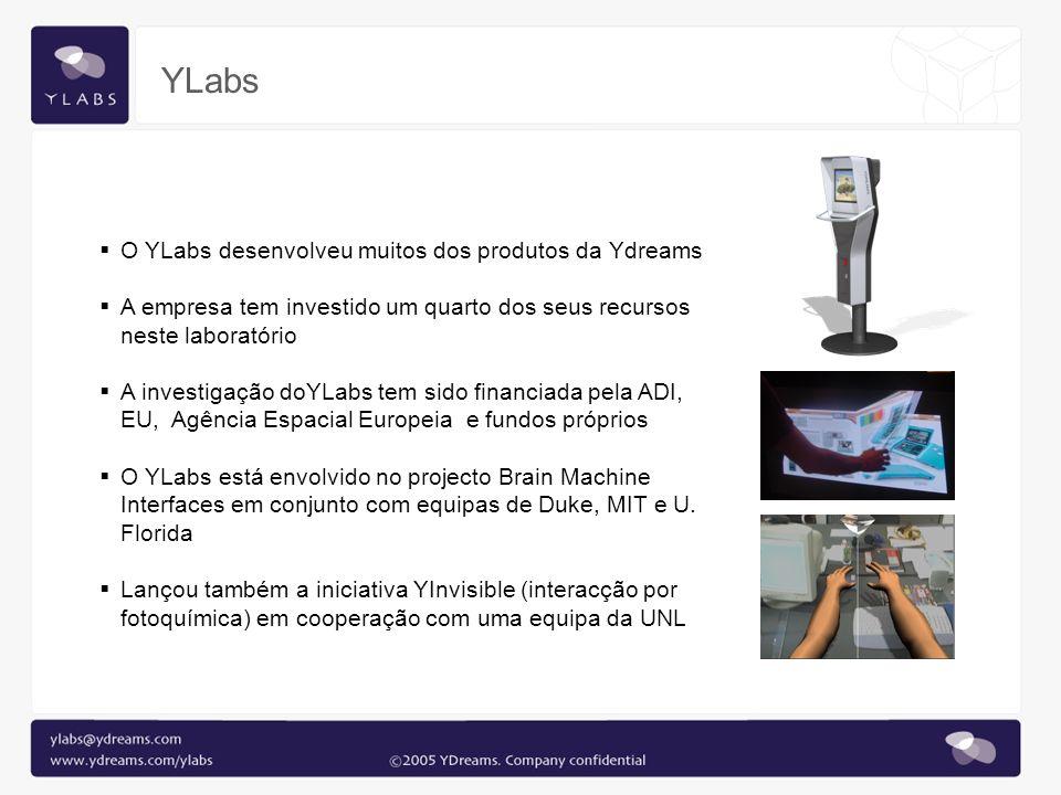 O YLabs desenvolveu muitos dos produtos da Ydreams A empresa tem investido um quarto dos seus recursos neste laboratório A investigação doYLabs tem si