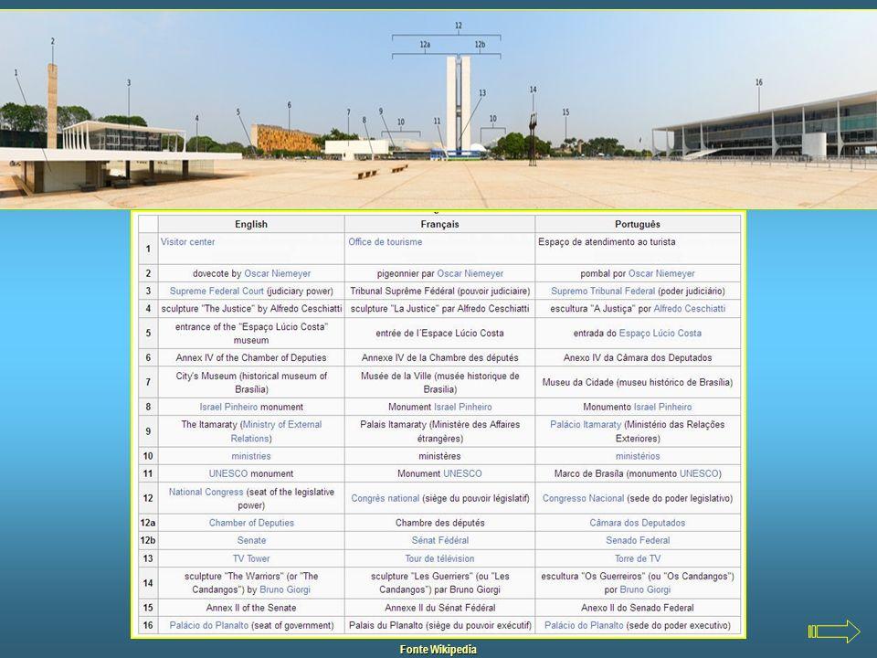 Praça dos Três Poderes Foto de EricGaba – Fonte Wikipedia A Praça dos Três Poderes é um amplo espaço aberto entre os três edifícios monumentais que re