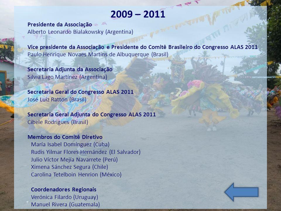 2009 – 2011 Presidente da Associação Alberto Leonardo Bialakowsky (Argentina) Vice presidente da Associação e Presidente do Comitê Brasileiro do Congr