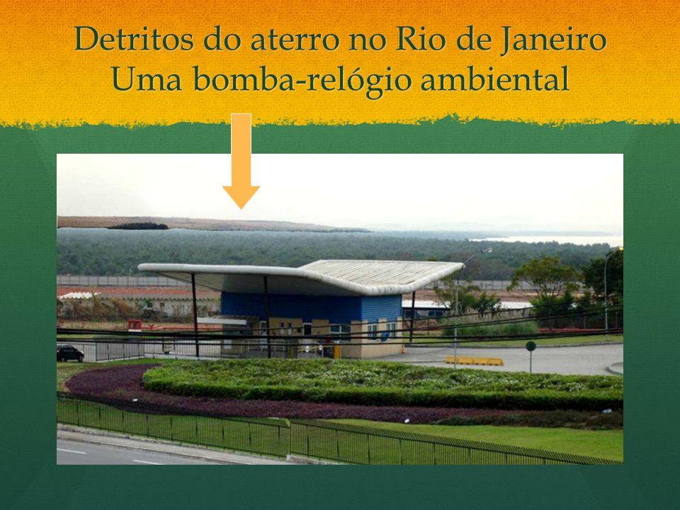 Detritos do aterro no Rio de Janeiro Uma bomba-relógio ambiental
