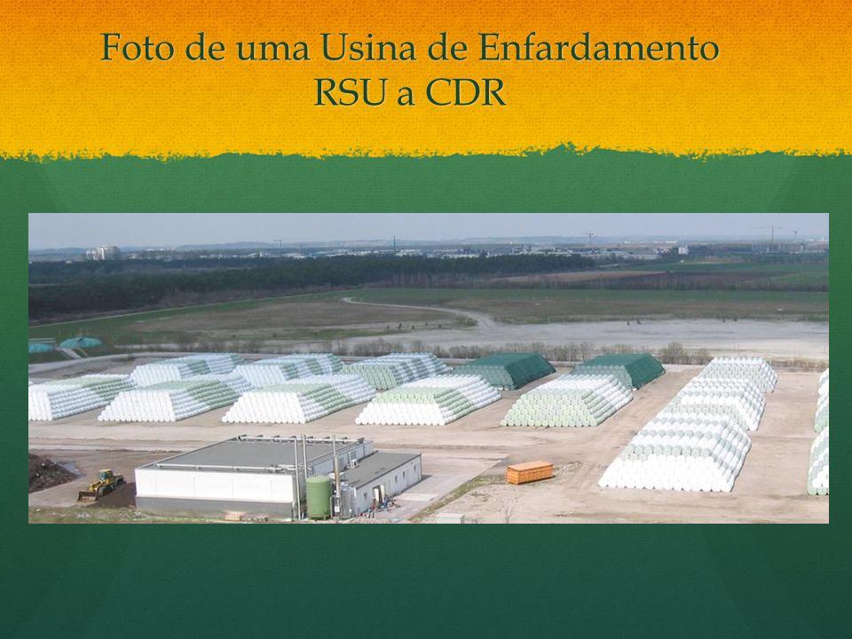 Foto de uma Usina de Enfardamento RSU a CDR Foto de uma Usina de Enfardamento RSU a CDR