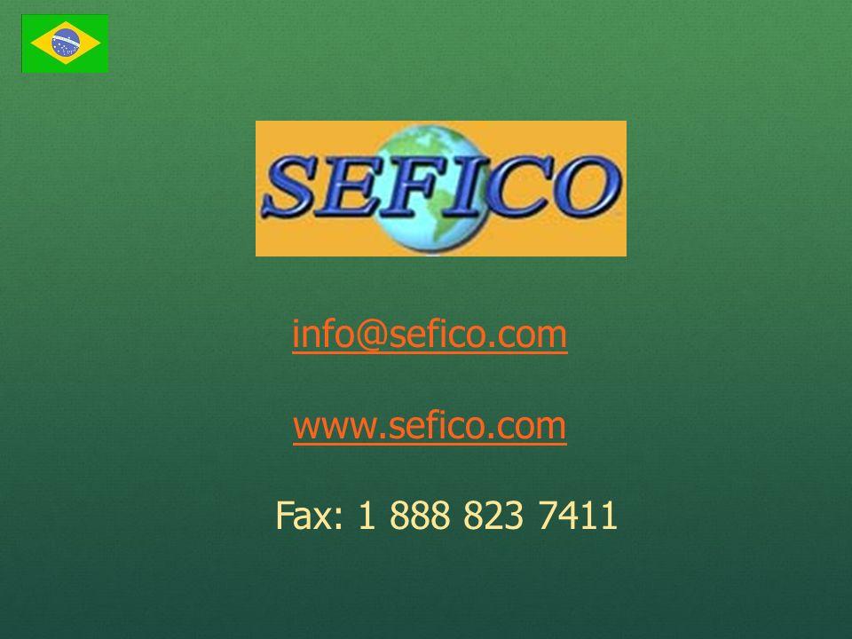 info@sefico.com www.sefico.com Fax: 1 888 823 7411