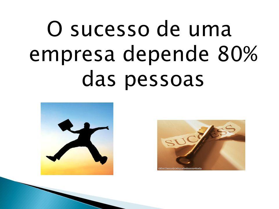 O sucesso de uma empresa depende 80% das pessoas