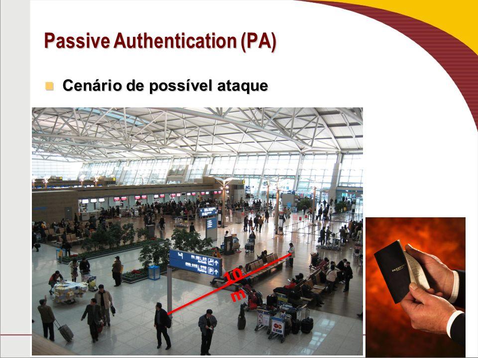 Passive Authentication (PA) Cenário de possível ataque Cenário de possível ataque 10 m