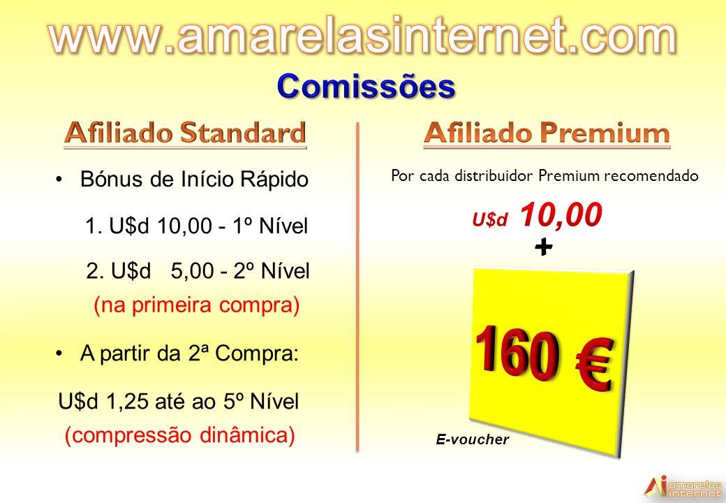 (compressão dinâmica) + Por cada distribuidor Premium recomendado Bónus de Início Rápido 1.