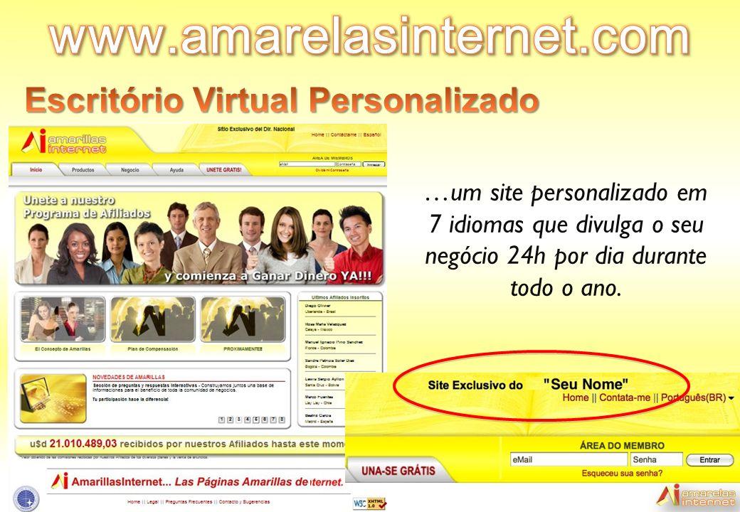 …um site personalizado em 7 idiomas que divulga o seu negócio 24h por dia durante todo o ano.