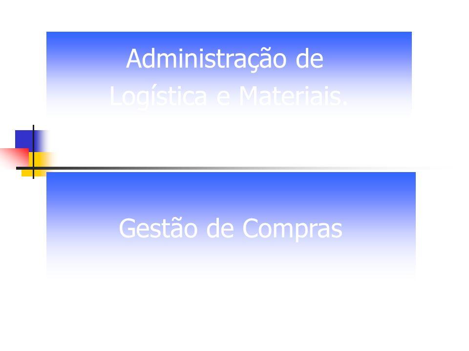 Gestão de Compras Administração de Logística e Materiais.