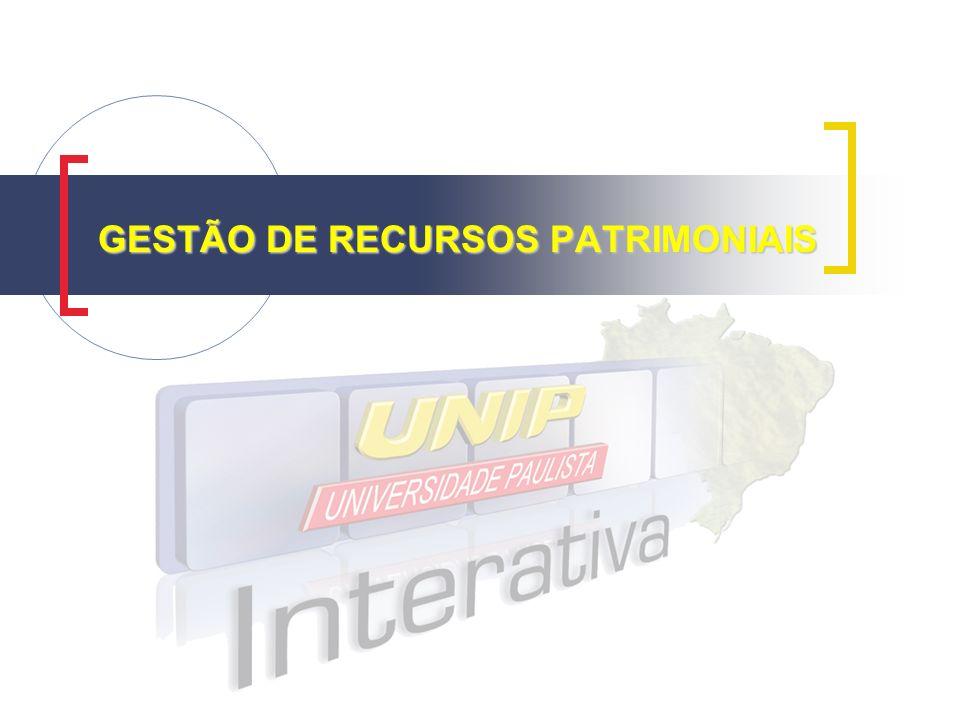 GESTÃO DE RECURSOS PATRIMONIAIS