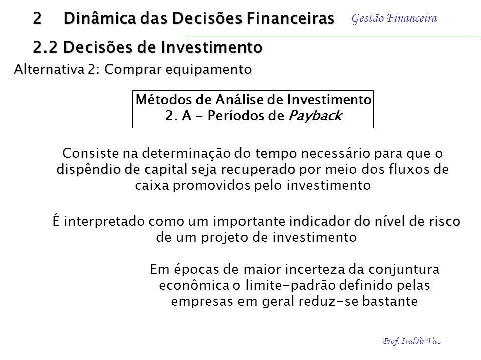 Prof. Ivaldir Vaz Gestão Financeira Exemplo - Solução utilizando FJVF Qual o valor futuro (FV) e de uma aplicação de R$ 120,00 (PV) efetuada pelo praz