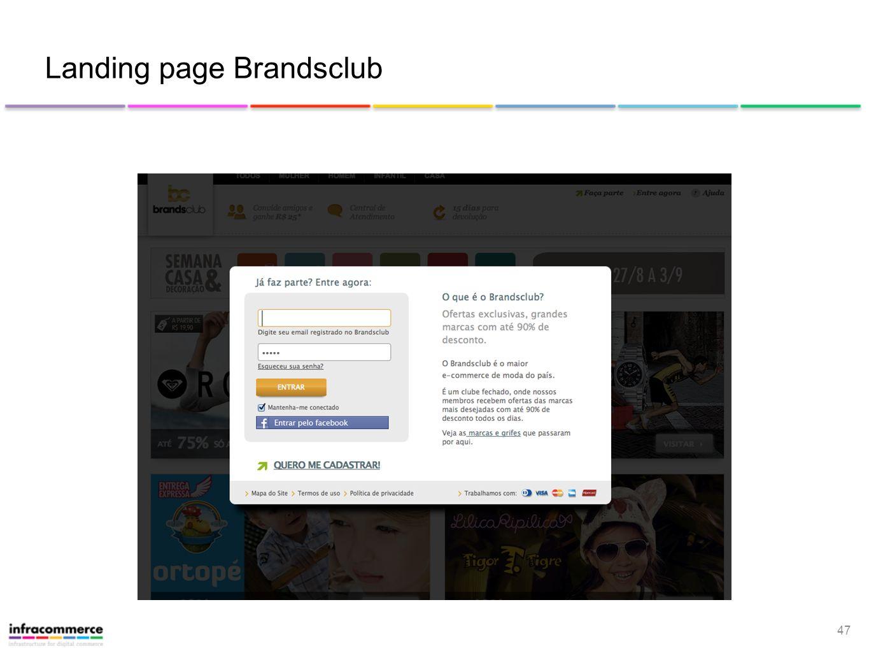 47 Landing page Brandsclub