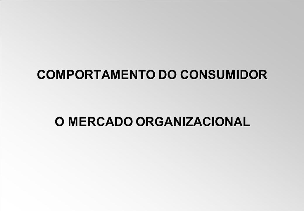 COMPORTAMENTO DO CONSUMIDOR O MERCADO ORGANIZACIONAL