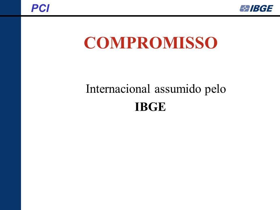 COMPROMISSO Internacional assumido pelo IBGE PCI
